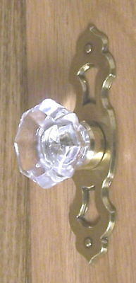 DESIGNER 24% Lead Crystal Glass Old Town Knobs PULL-ANYWHERE FLAT RATE S/H $4.99