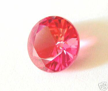 SAPHIR VERNEUIL PADPARADSCHA  12 mm qualité joaillerie