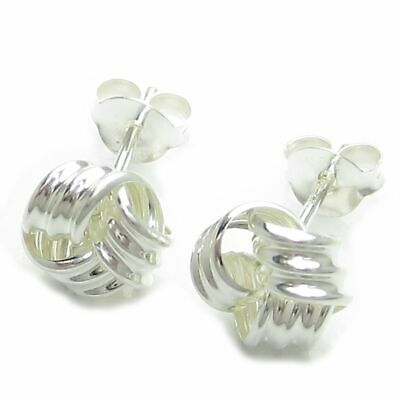 Knot sterling silver stud earrings .925 x 1 Pair knots studs IDBP1425