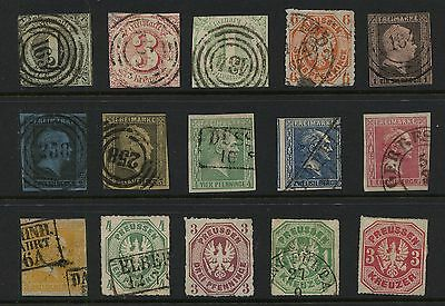 German  States  nice lot ,  some nice cancels           MS0725