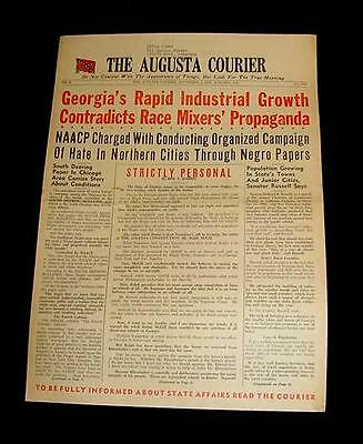 1959 AUGUSTA COURIER NAACP STATES CIVIL RIGHTS INTEGRATION COLORED BOYS WHITE !!