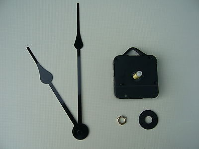 High Torque Clock Movement Long Spindle 175Mm Black French Spade Hands
