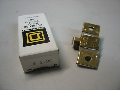 Square D B1.30 Overload Relay Thermal Unit Nib