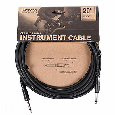 Planet Waves 20' Classic Series Guitar Lead. Straight Jacks. P/No: PW CGT 20