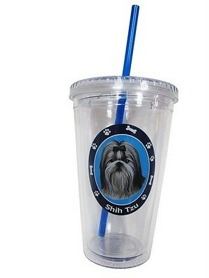Shih Tzu Insulated Double Wall Tumbler Dog Breeds 16 oz Shihtzu AC-39 E & S Pets