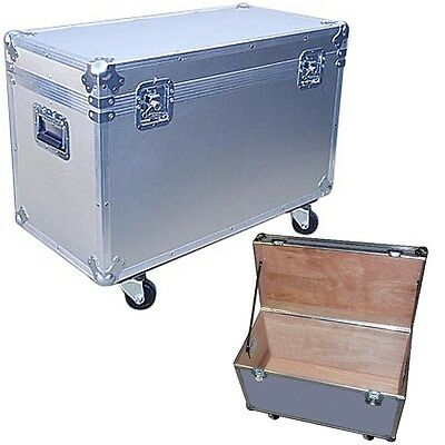 "Medium Duty 1/4"" ATA ""BULLY"" UTILITY TRUNK w/ WHEELS! Silver"