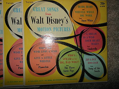 Vintage 1958 Great Songs from Walt Disney's Motion Pictures 45 Record Hoard (31)