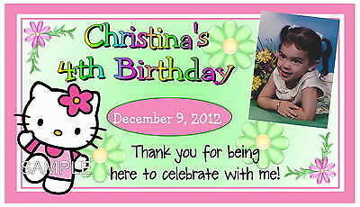 12 HELLO KITTY BIRTHDAY PARTY FAVORS PHOTO MAGNETS