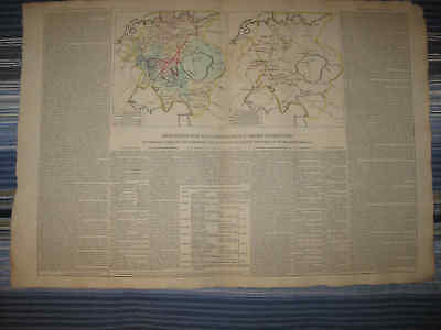 Huge Gorgeous Antique 1802 Germany Prussia Westphalia History Handcolored Map Nr