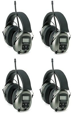 (4) Safety Works 10121816 Digital MP3/AM/FM Stereo Radio Hearing Protector Muffs