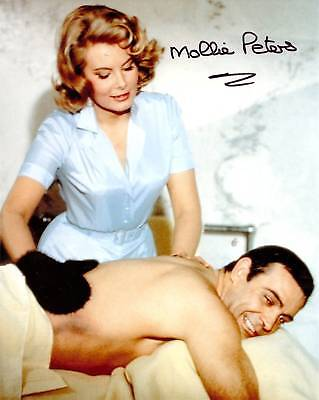 JAMES BOND 007 - Thunderball MOLLIE PETERS signed 10x8