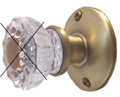 Retrofit Rosettes for Antique Passage Knobs with Wood Adapters for Modern Doors