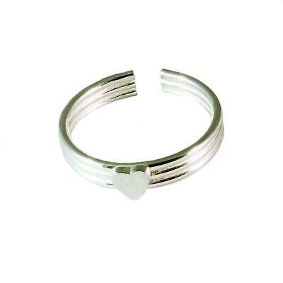 Sterling Silver Toe Ring - Banded Heart - BOXED