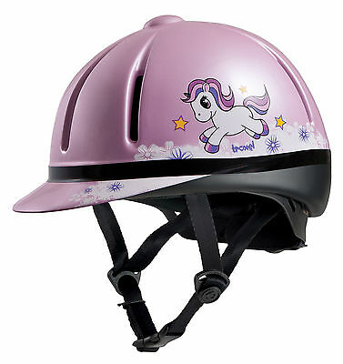 TROXEL LEGACY SLIM PROFILE pink unicorn HORSE TACK RIDING HELMET small childrens