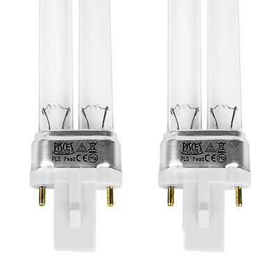 Twin Pack 7W Watt Pls Pond Filter Uv/Uvc Bulb/Light/Tube/Lamp Ultra-Violet
