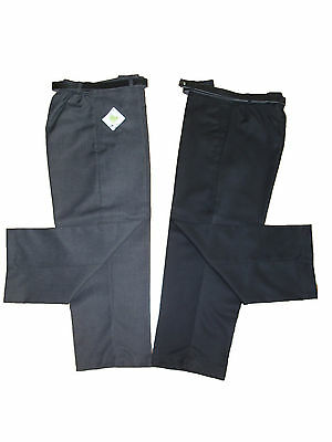 Boys Sturdy Fit-Plus Size-School Trousers-Generous Waist-Short Leg-8Yrs Upwards*