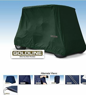 Goldline Premium Xtra Long 2 Person Passenger Golf Cart Storage Cover Hunt Green