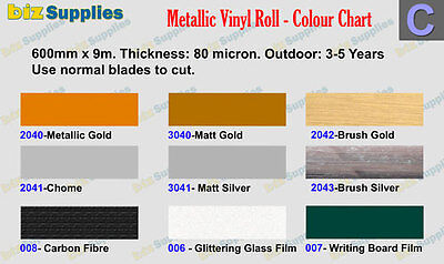 60cmx5m Chrome & Metallic Sign Vinyl Roll for Cutting Car Sticker,Banner cutting