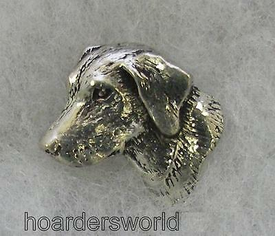 Handmade Labrador Dog Pin Badge in Fine English Pewter