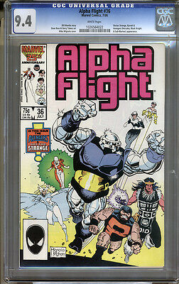 Alpha Flight #36 CGC 9.4 NM WHITE Pages Universal