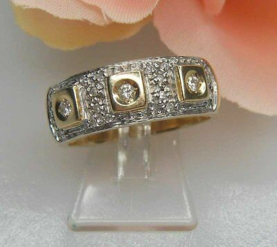 Ring mit Diamanten 0,44 Carat 585er Gold