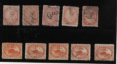 Canada  nice  lot of  early  used   stamps    LOOK     KEL0815