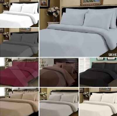 Egyptian Cotton 400 Thread Count Duvet Cover Bedding Bed Set White