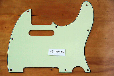 60 / 62 Tele® Vintage Replacement 3 Ply Pickguard Mint Green 3 Lagig Telecaster!