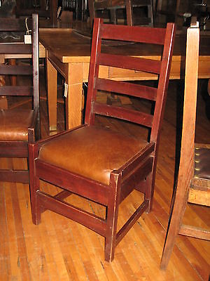 Mission Mahogany Desk Side Chair Gus Gustav Stickley #304 Arts & Crafts
