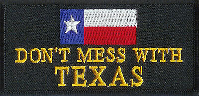 """DONT MESS WITH TEXAS"" BIKER FLAG VEST JACKET PATCH"
