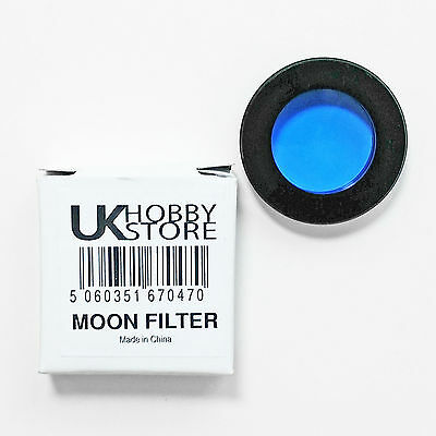 "Moon Filter 1.25"" New Standard For Telescope Eyepiece Blue Astronomy Scope Lens"