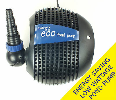 Jebao Submersible Eco Fish Pond Pump for Waterfall & Filter - Low Wattage Motor