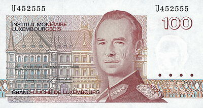 Luxemburg / Luxembourg 100 Francs (1986) Pick 58