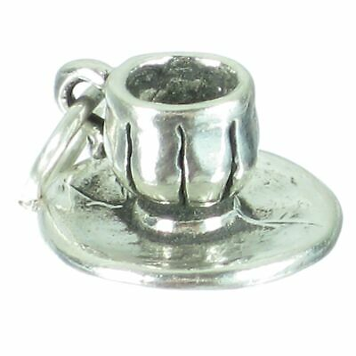 Cup and Saucer sterling silver charm .925 x 1 Tea Drinking charms SSLP3877