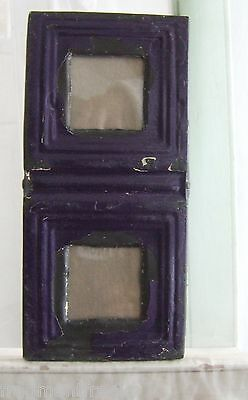 CEILING TIN Picture Frame Double 3 x 3 *See Video* RECLAIMED Purple