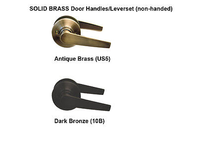 OIL RUBBED BRONZE and ANTIQUE BRASS DOOR HANDLES LEVERSETS (compare to Kwikset)