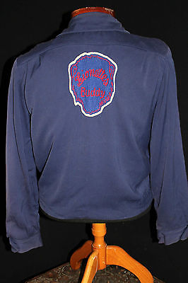 """Very Rare Collector's  1950's Vintage Gabardine """"lionettes"""" Club Jacket Size Med"""