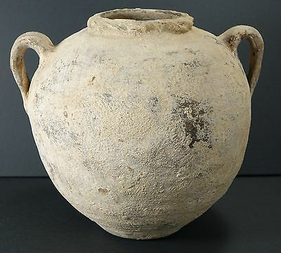 *Aphrodite Gallery* HOLY LAND LARGE TWIN HANDLED JAR, 2nd-1st Century B.C.