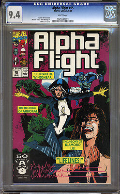 Alpha Flight #95 CGC 9.4 NM WHITE Pages Universal
