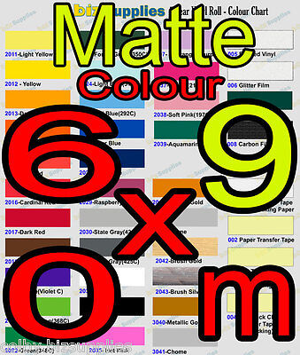 Matte Color Wall Decor Sticker / Indoor Vinyl Roll with Removable Glue - 60cmx9m