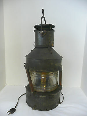"""Vintage Authentic Ship's Lantern """"Not Under Command."""" Circa: 1945 WWII"""