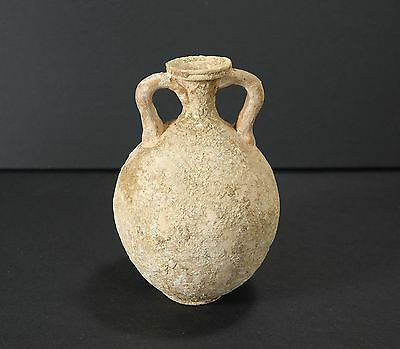 *Aphrodite Gallery* HOLY LAND TWIN HANDLED POTTERY FLASK, 2nd Century B.C.