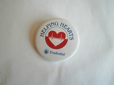 1990's Prudential Insurance Co Helping Hearts Campaign Pinback Button