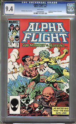 Alpha Flight #15 CGC 9.4 NM WHITE Pages Universal