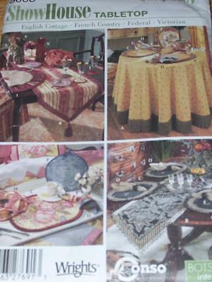 SIMPLICITY #5068 - TABLETOP ~ ENGLISH COTTAGE-FRENCH COUNTRY-VICTORIAN PATTERNuc
