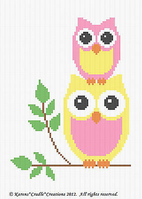 Crochet Patterns - OWLS - MOMMY & BABY Afghan Pattern *EASY