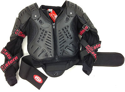 Stern Motocross Enduro Mx Body Armour Bionic Protection Suit Jacket Black New
