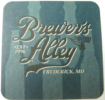 BREWER'S ALLEY Beer COASTER, MAT, Frederick, MARYLAND 2012