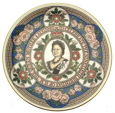Caverswall The Queen Mother coupe plate commemorating 90th birthday by Stephen