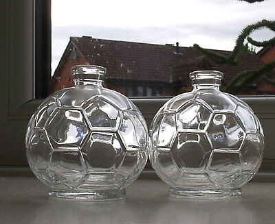4 Four Glass Bottles with corks Ideal Faceted Footballs Diffuser Reeds.Men Boys